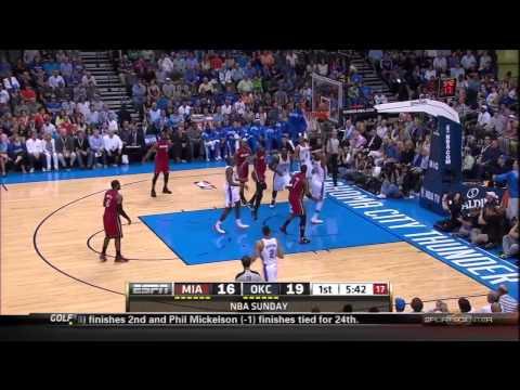 Miami Heat @ Oklahoma City Thunder: 1st Quarter Highlights