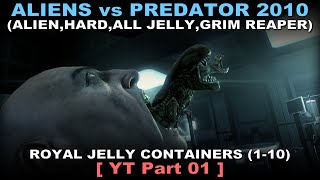 Aliens vs Predator 2010 - Alien walkthrough 01 ( All Jelly, Hard, Grim Reaper, No commentary ✔ )