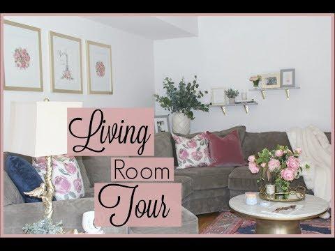 Living Room Tour!! Furniture + Decor