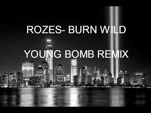 ROZES- BURN WILD (YOUNG BOMB REMIX) LYRICS VIDEO