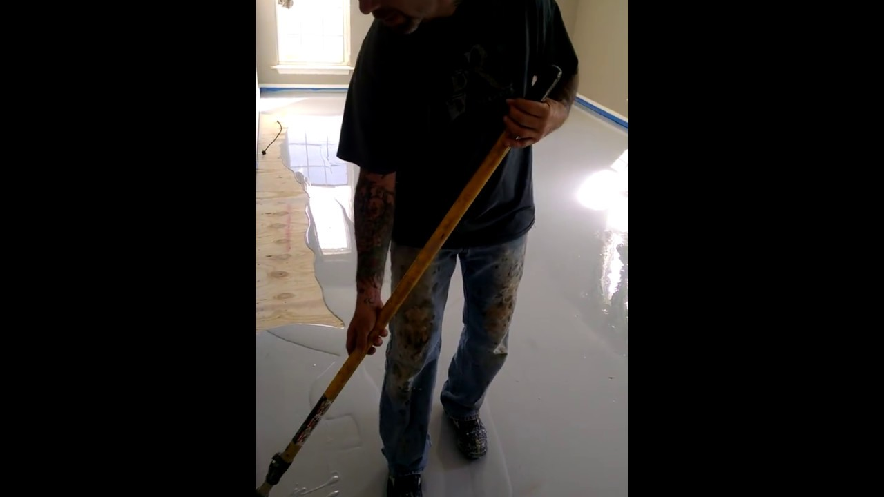Installing Flexible Epoxy Over Wood Sub Floor Youtube