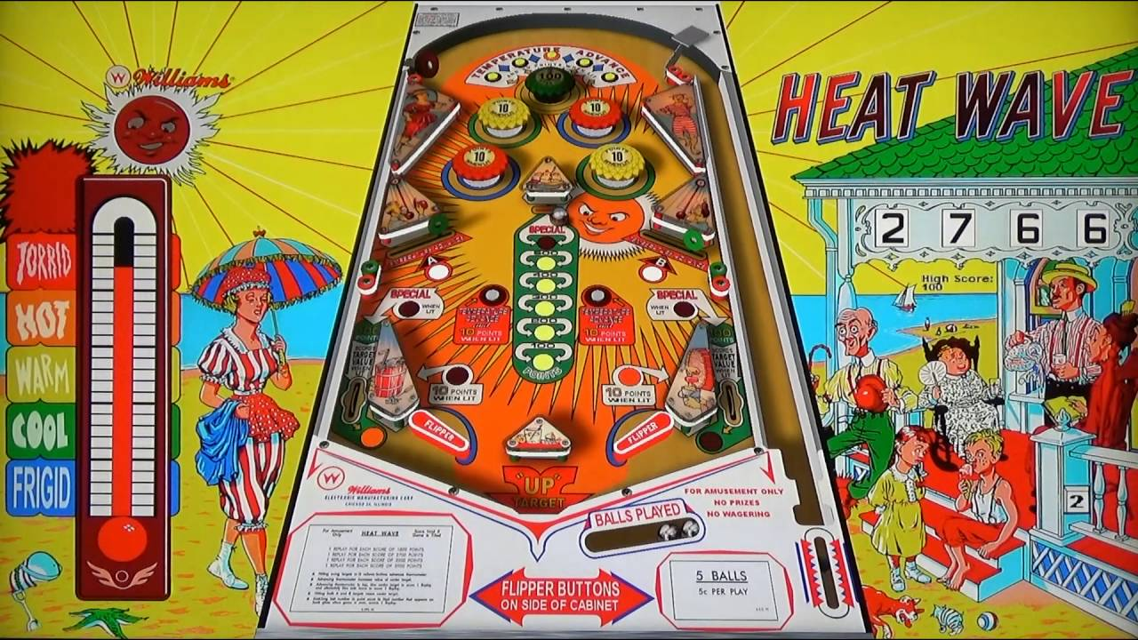 Heat Wave (Williams, 1964) Visual Pinball 9 - YouTube