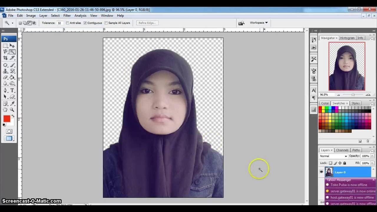 Mengganti Background Foto Dengan Photoshop Cs3 Youtube