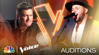 "Jim Ranger Delivers on Keith Urban's ""Blue Ain't Your Color"" - The Voice Blind Auditions 2020"