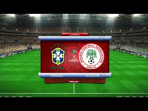 FINAL - Brazil vs Nigeria FIFA World Cup 2018 Russia - Full Match Pes Gameplay