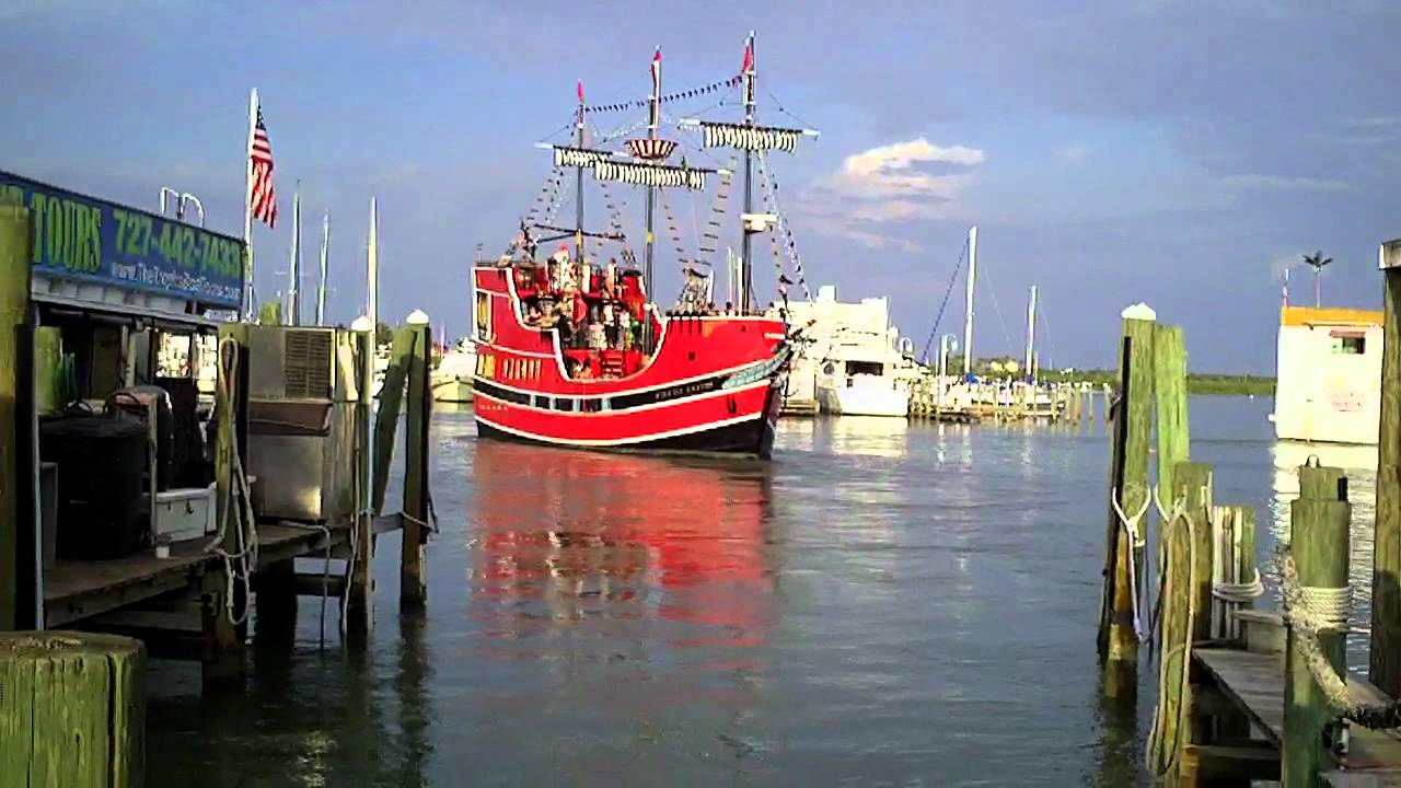 Clearwater Beach Pirate Ship Youtube