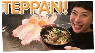 You can't handle the TEPPAN! | Teppan restaurant in Shimbashi Tokyo