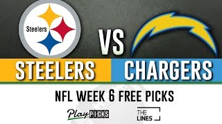 Sunday Night Football NFL Week 6 - Steelers vs Chargers | SNF Free Picks & Betting Odds