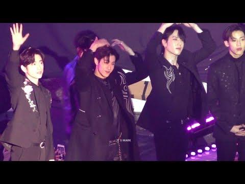 [4K/FANCAM] 181225 SBS가요대전 GOT7 - ending (Mark focus)
