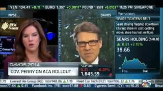 Texas Gov. Rick Perry on CNBC's Squawk On The Street