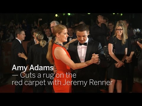 AMY ADAMS Cuts a rug with Jeremy Renner | TIFF 2016