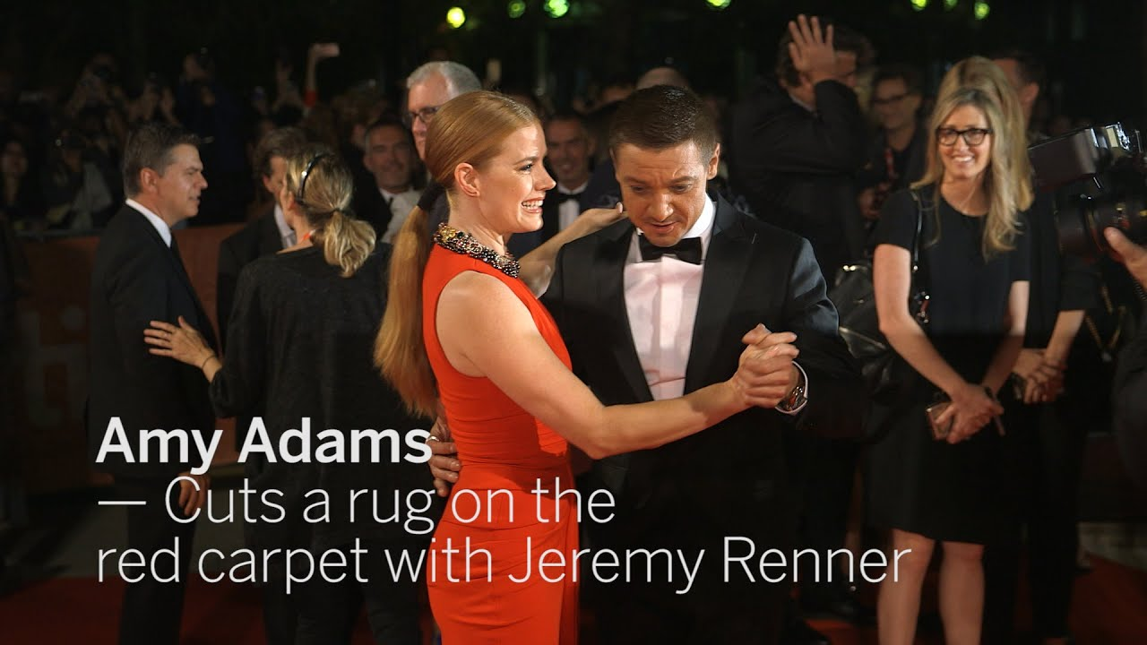 Amy Adams Cuts A Rug With Jeremy Renner