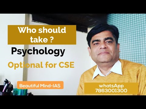who should take psychology optional in the civil service exa