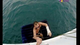 В Сочи молодого человека унесло в море на надувном матрасе(Сотрудники ЮРПСО провели спасательную операцию ..., 2016-08-15T16:46:08.000Z)