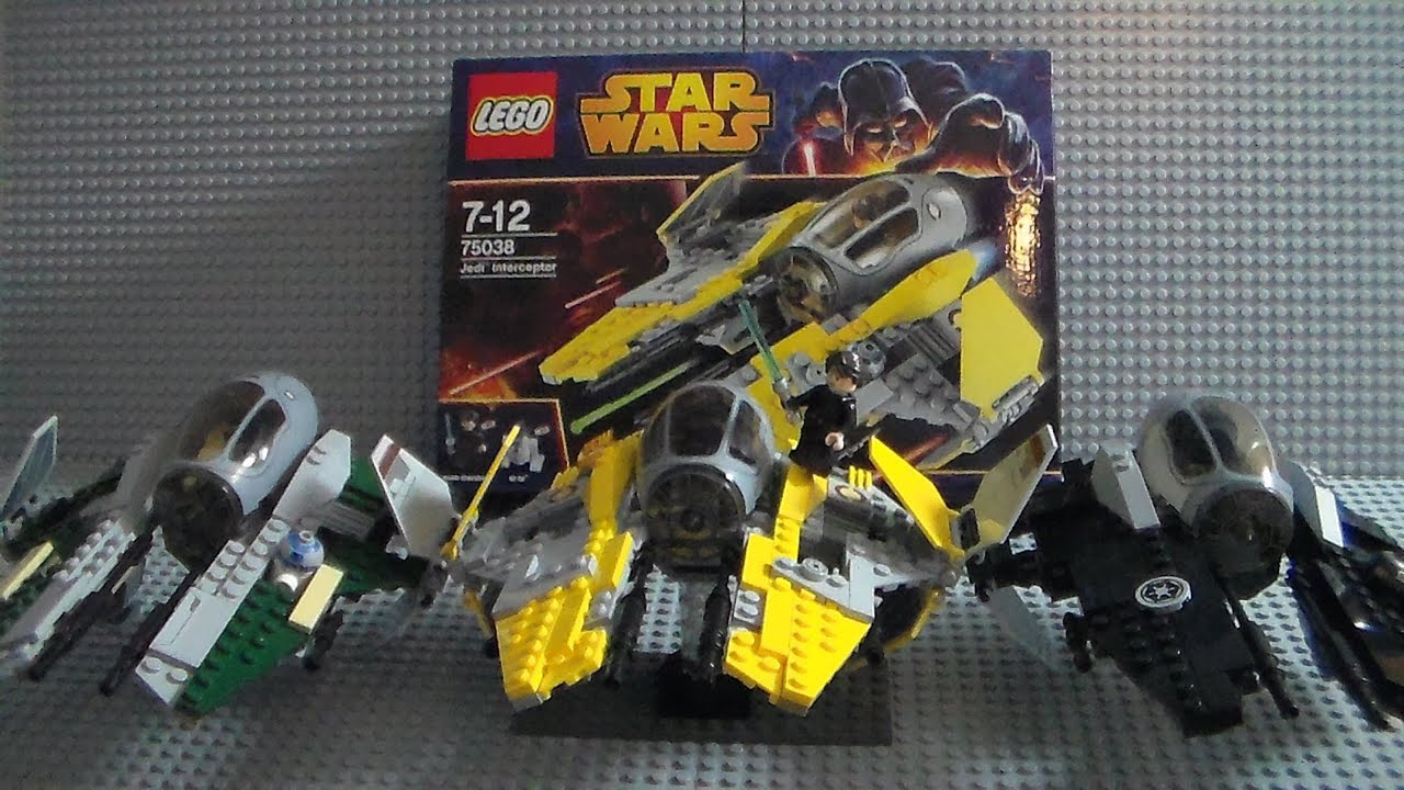 new (2014) lego star wars jedi interceptor 75038 review - youtube