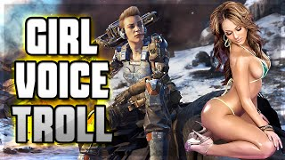GIRL VOICE TROLLING ON BLACK OPS 3! (Call of Duty Funny Moments, Voice Troll)