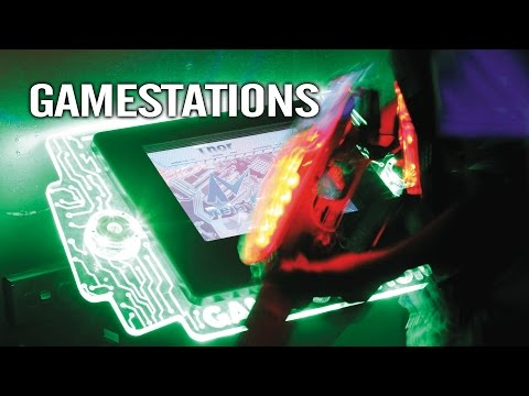 HELIOS GAMESTATIONS - Interactive touch screen arena devices