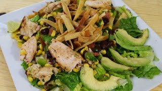 Chicken and Black Bean Salad, easy recipe, delicious