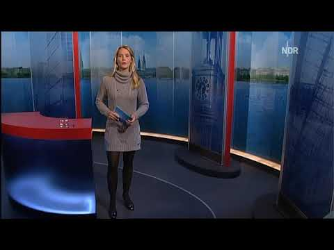 Judith Rakers Hamburg Journal im Minikleidchen
