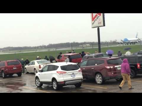 President Barack Obama Leaving Flint Bishop International Airport