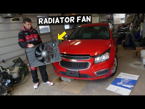 CHEVROLET CRUZE RADIATOR FAN REPLACEMENT REMOVAL. CHEVY SONIC RADIATOR FAN