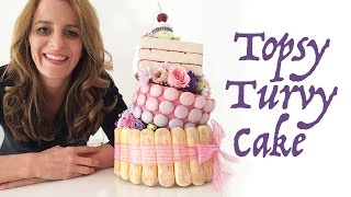 vuclip TOPSY TURVY CAKE How To Cook That Ann Reardon (Mad Hatter's favourite cake)