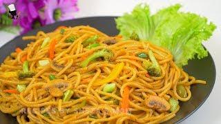 ভজটবল সপযগট পসত  Stir-Fried Vegetable Spaghetti Recipe  Tasty Veggie Spaghetti Recipe