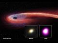 Lenta agonia d'una stella nelle fauci del buco nero