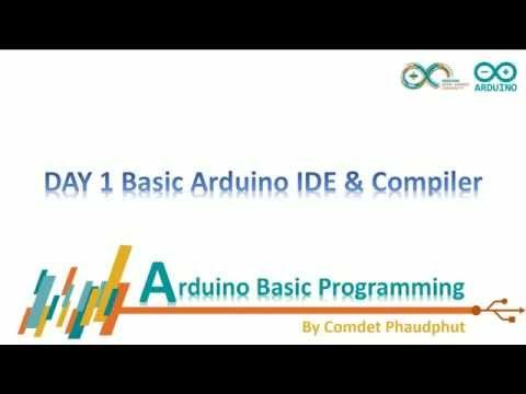 วันที่ 1 ติดต้้ง Sublime Text IDE -Arduino Basic Programming หัดเขียนโปรแกรมอาดูอิโน่ใน 30 วัน