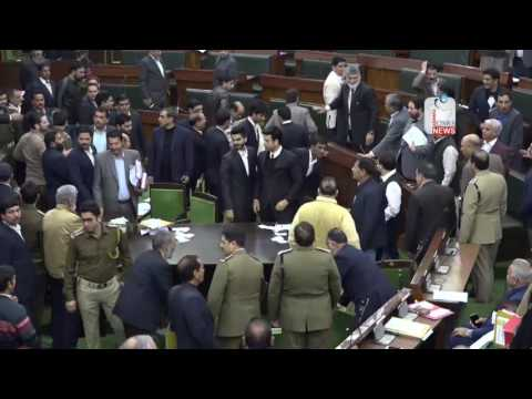 NC MLAs created ruckus in Jammu and Kashmir Assembly over Article 370