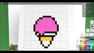 How To Make A Ice-Cream On Roblox Pixel Art Creater!