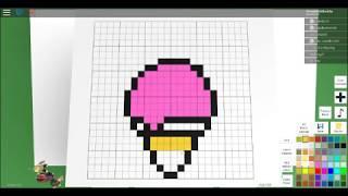 كيفية جعل الآيس كريم على Roblox الفن بكسل Creater!