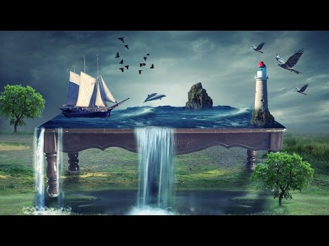 Sea on table photo manipulation | photoshop tutorial cc