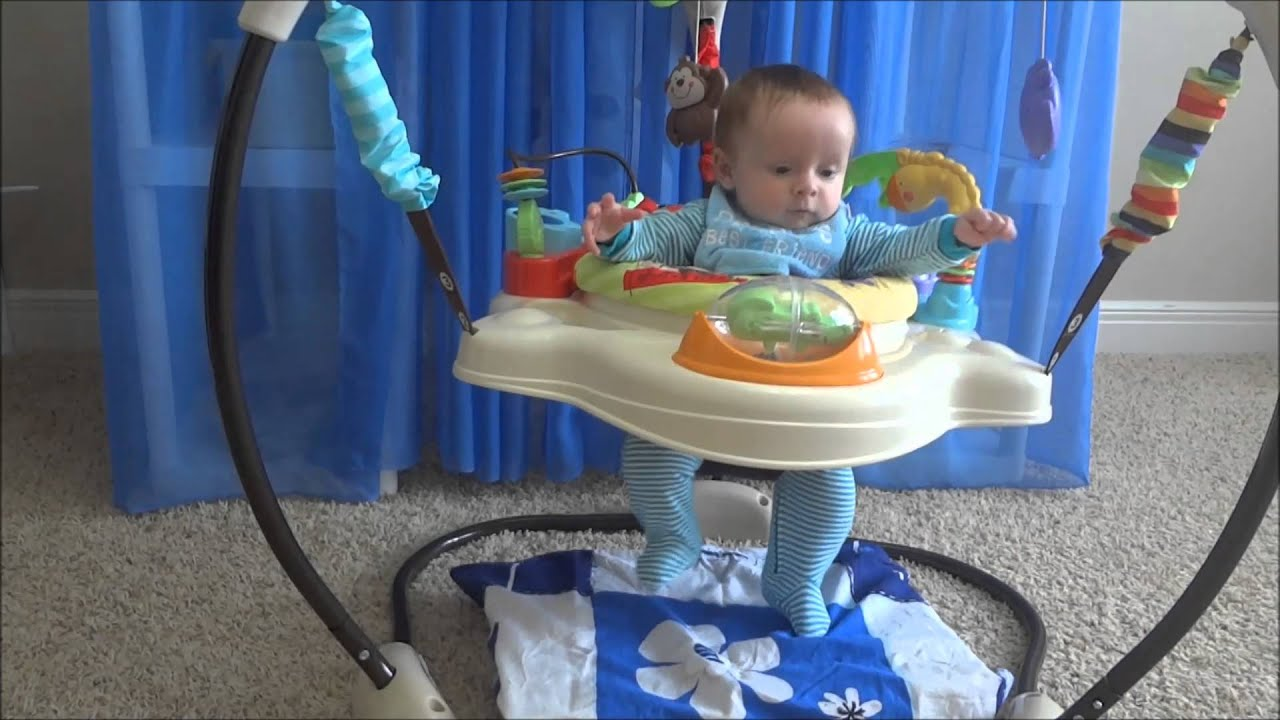 4f2a8bbec470 4 month old baby is jumping   Fisher-Price Luv U Zoo Jumperoo - YouTube