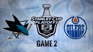San Jose Sharks Vs. Edmonton Oilers Game 2 | NHL Game Recap | April 14, 2017 | HD