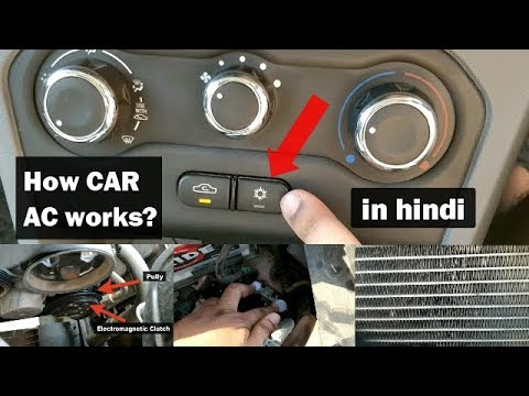 How Car AC Works in Hindi    Parts of Car's AIR CONDITIONING SYSTEM