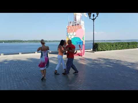 Dancing at the River Volga Embankment in Samara