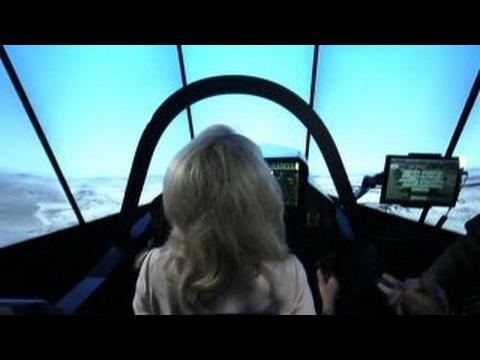 US Air Force demonstrates Lockheed Martin F-35 simulator