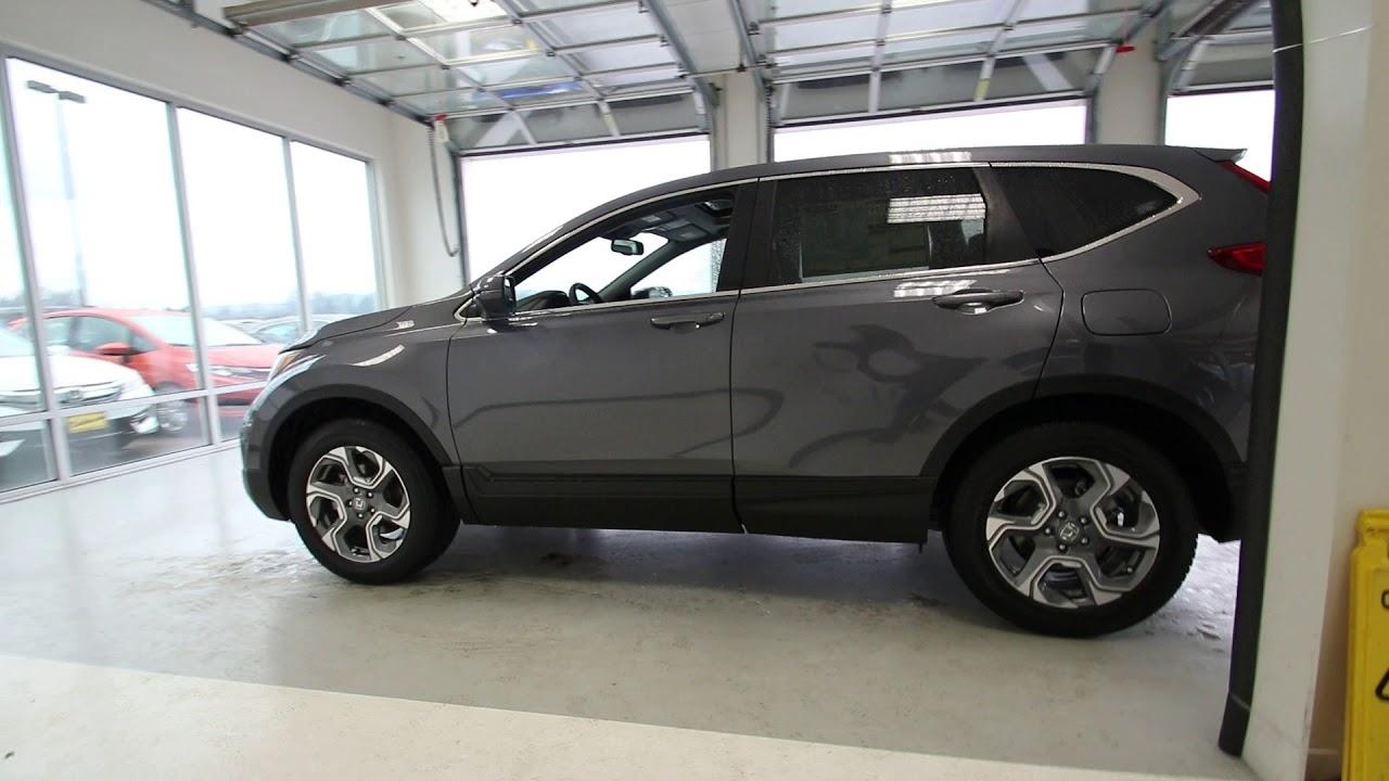 Honda Of Seattle >> 2018 Honda CR-V EX-L | Modern Steel Metallic | JH612841 | Seattle | Sumner | - YouTube
