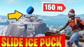 Slide an Ice Puck over 150m in a single throw - fortnite Season 7 Week 6 Challenges guide