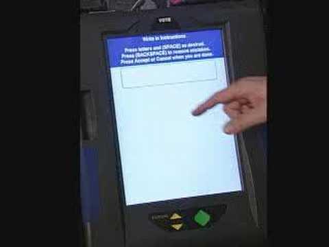 voting machine on