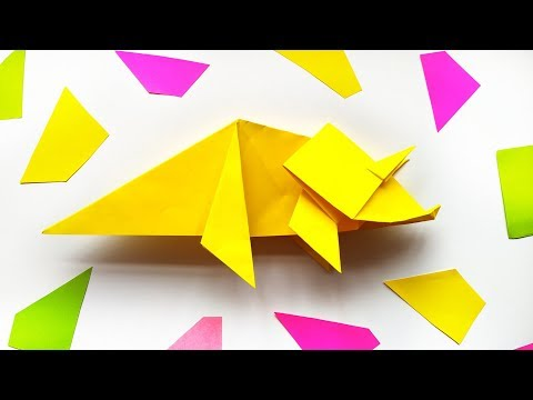 How to Make Origami Dinosaur 🦖 - DIY Paper Crafts Tutorial Step by Step