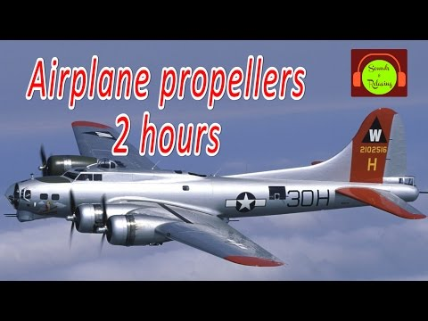 Airplane propellers sound  for relaxing and sleeping - white noise