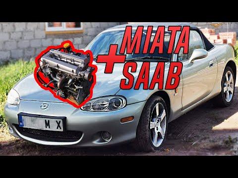 Pirmas toks swapas Lietuvoje! Saab Variklis miatoje, judinu Eunosa, E30 ir darom Burnoutus /SE02EP35