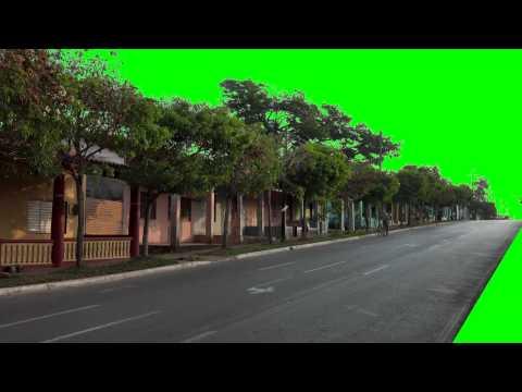 street real green screen