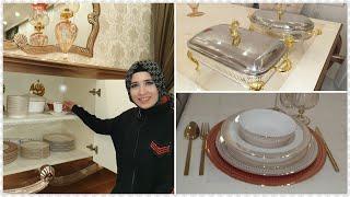 VLOG/Salon Dolabı Düzeni ve Eviye Temizliği - ترتيب خزانة الصالون وتنظيف المن- Saloon Cabinet Layout