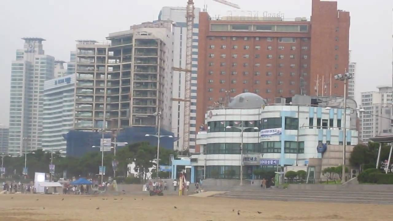 Haeundae Beach Near Novotel Ambador Hotel Busan Pusan South Korea You