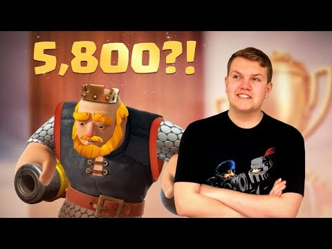 CAN WE REACH 5,800?! OP Royal Giant Deck! LIVE Ladder Gameplay - Clash Royale