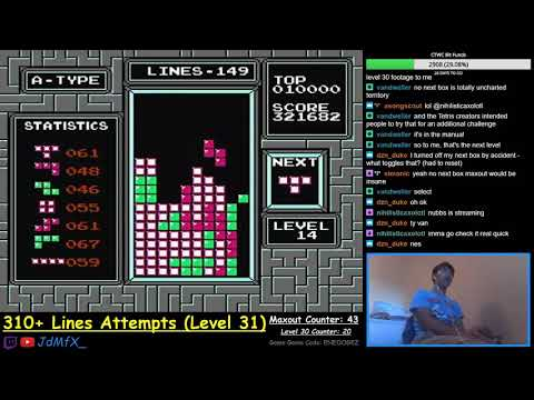 NES TETRIS - First Ever Level 31 - 9/24/2018