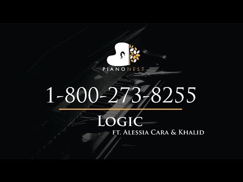 Logic - 1-800-273-8255 ft. Alessia Cara & Khalid - Piano Karaoke / Sing Along / Cover with Lyrics